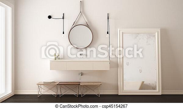 Classic bathroom, modern minimalistic interior design - csp45154267