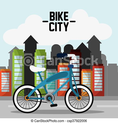 classic bicycle bike and city icon sport concept vector graph rh canstockphoto com Bicycle Clip Art Black and White Bicycle Clip Art Black and White