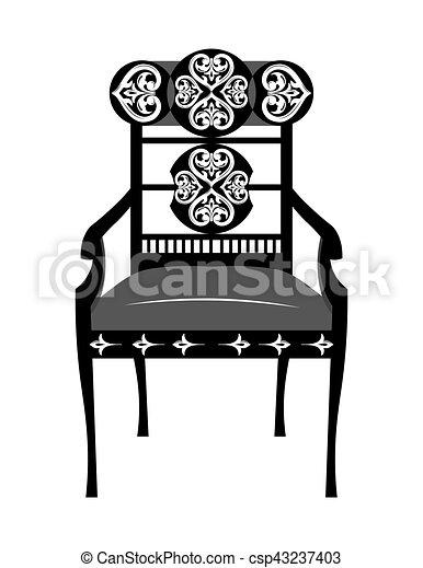 Classic biedermeier style chair - csp43237403