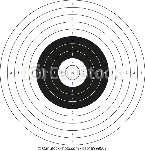 bullseye template printable - classic bullseye target isolated classic black and white