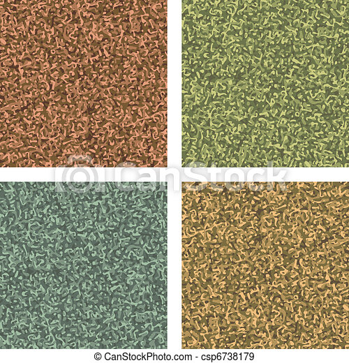 Classic camouflage pattern four colorways. EPS 8 - csp6738179
