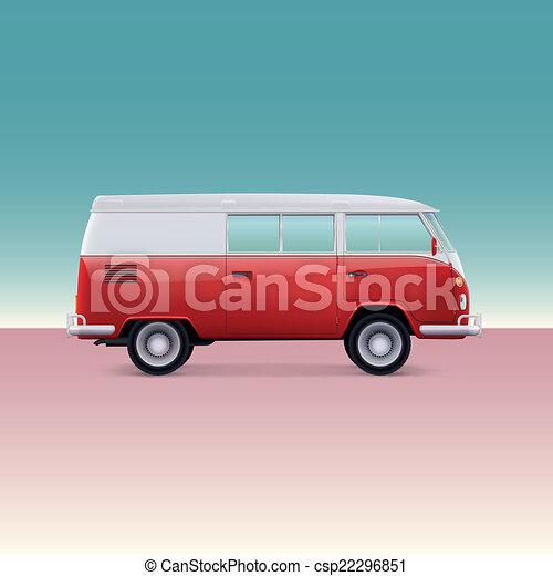 Classic Camper Van Vector