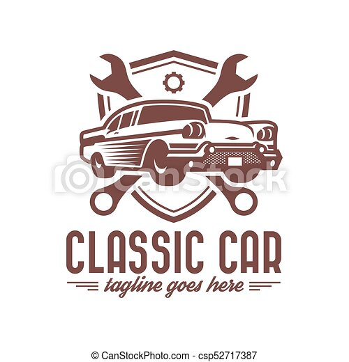 classic car logo template vintage car logo retro car logo design
