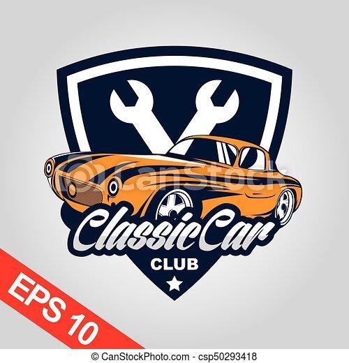 Classic Car Logo For Car Community