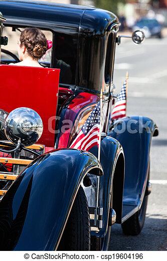 Classic cars parade. - csp19604196