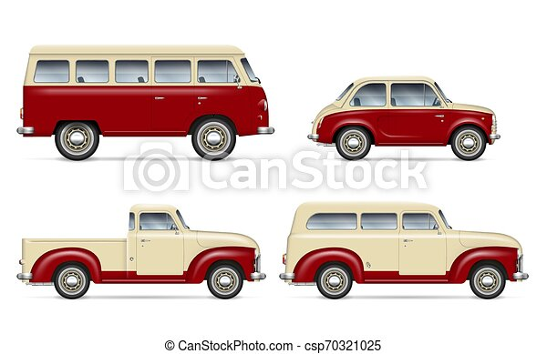 Classic cars vector set - csp70321025