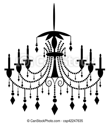 Classic chandelier on white background luxury decor accessory classic chandelier on white csp42247635 aloadofball Gallery
