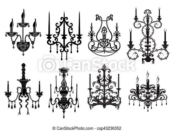 Classic chandelier Set - csp43236352