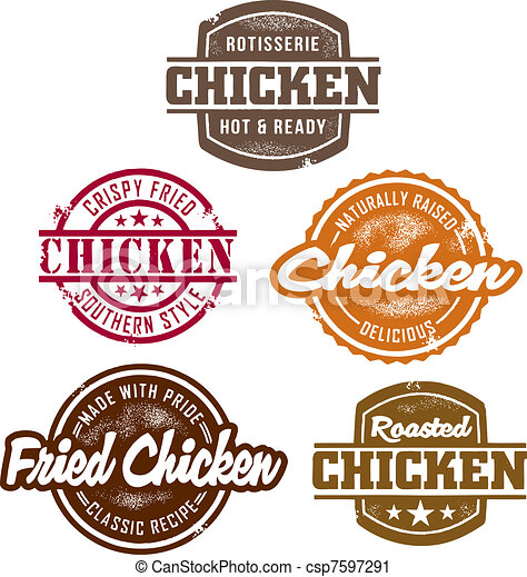 Classic Chicken Stamps - csp7597291