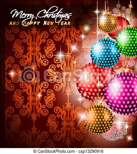 Elegant classic christmas greetings background for flyers classic christmas greetings background csp13290916 m4hsunfo