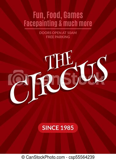 Classic Circus Poster Design Template Background Event Carnival
