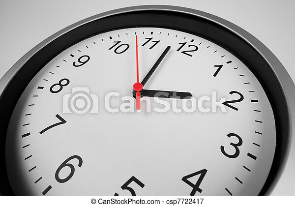 Classic clock macro shot by wide angle lens - csp7722417