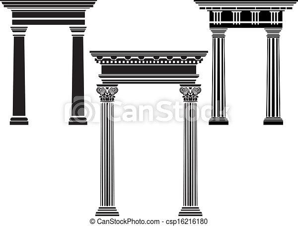 Classic column stencil set - csp16216180
