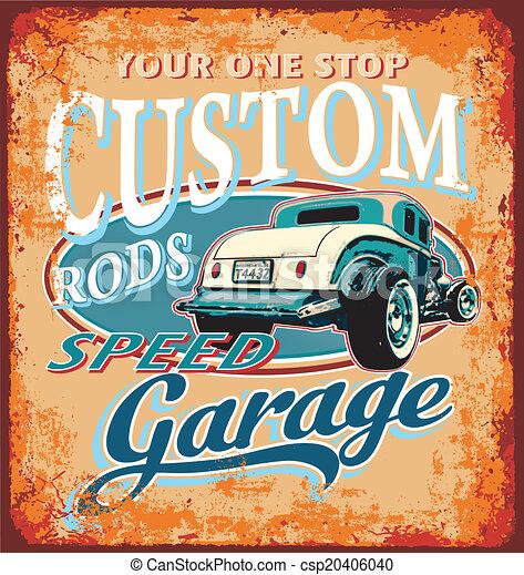 classic custom rod garage - csp20406040