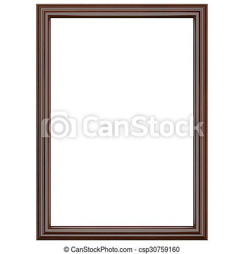 Classic dark brown wooden frame - csp30759160