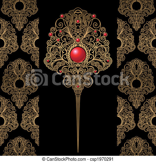 Classic Decoration And Wallpaper Background - csp1970291