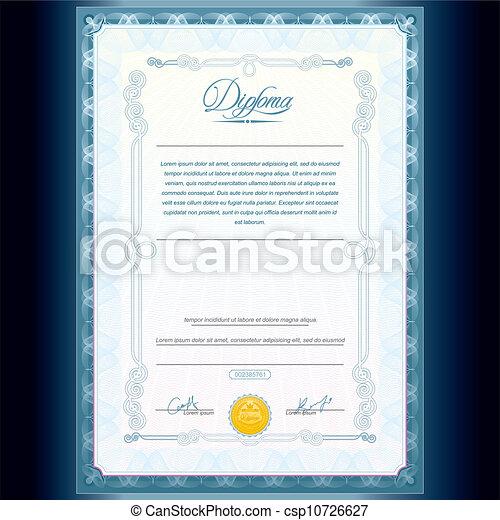 Classic Diploma Template - csp10726627