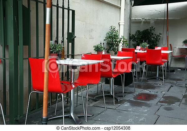classic european street cafe - csp12054308