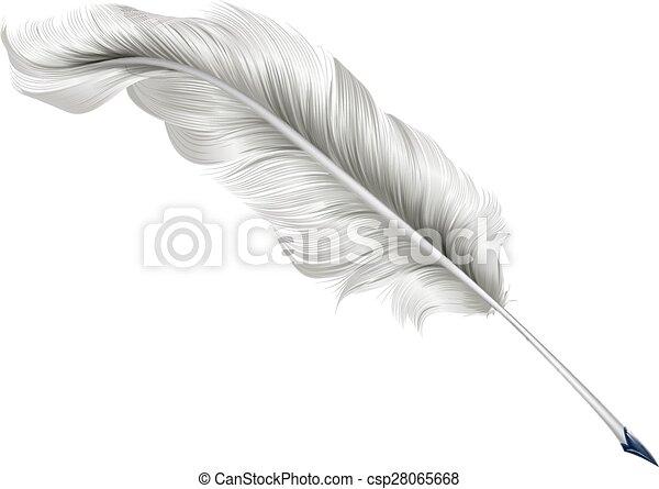 Classic feather quill illustration - csp28065668