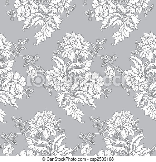 Classic floral pattern - seamless - csp2503168
