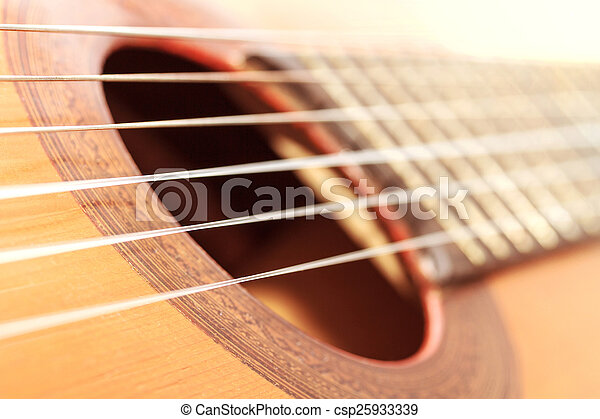 classic guitar with shallow depth of field - csp25933339