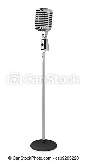 Microphone With Stand Drawing Classic microphone on ...