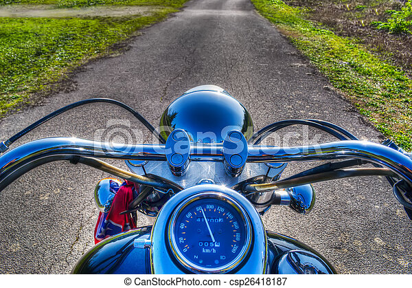 classic motorcycle in hdr - csp26418187