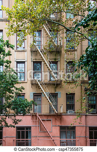 Classic New York Apartment Buildings In Greenwich Village   Csp47355875