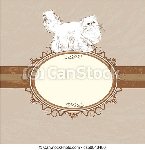 classic persian frame - csp8848486