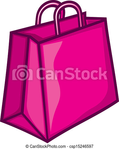 classic pink shopping bag pink paper bag eps vectors search clip rh canstockphoto ca shopping bag clipart transparent shopping bag clipart white png