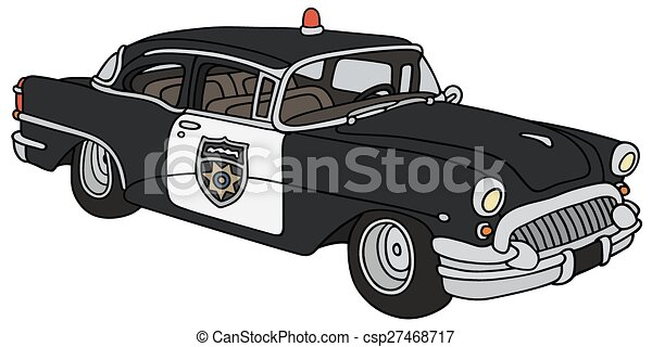 Classic Police Car Hand Drawing Of A Funny Classic Police Car Not