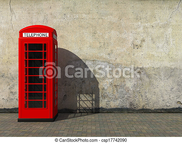 Classic red telephone booth - csp17742090