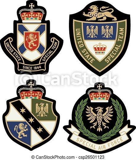 classic royal emblem badge shield - csp26501123