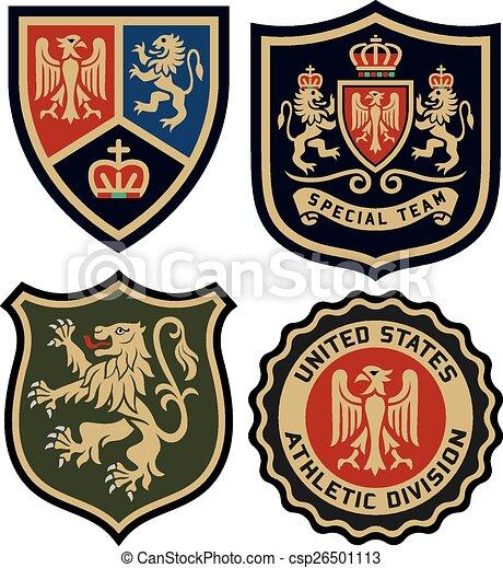 classic royal emblem badge shield - csp26501113