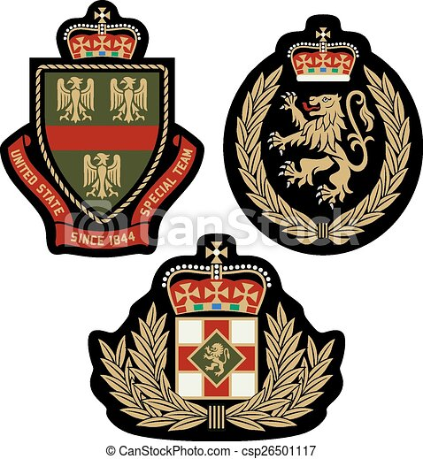 classic royal emblem badge shield - csp26501117