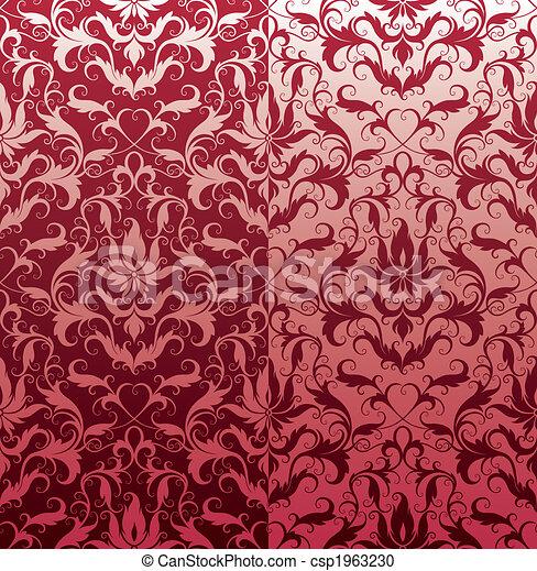 Classic Seamless Floral Wallpaper - csp1963230