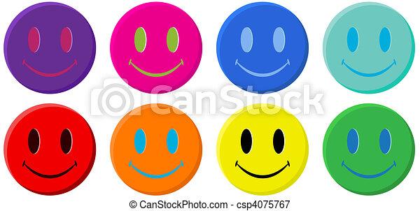 Classic Smiley Face - csp4075767