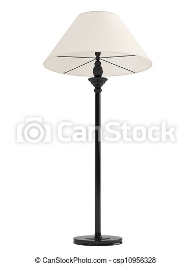 tall lamp drawing. classic standing lamp - csp10956328 tall drawing