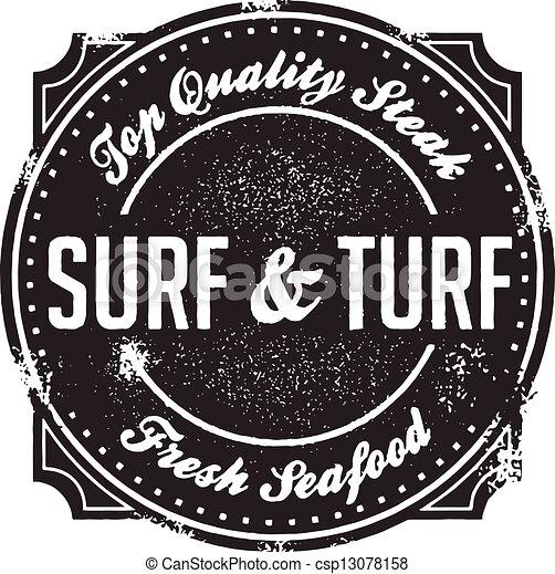 Classic Surf and Turf Menu Stamp - csp13078158
