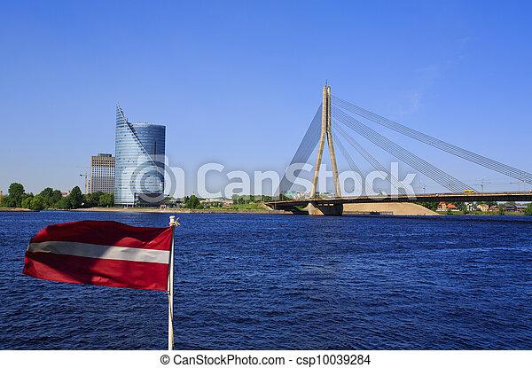 Classic view of Riga Bridge - csp10039284