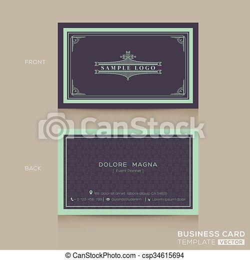 Classic vintage business card namecard template classic vintage classic vintage business card namecard template csp34615694 wajeb Images