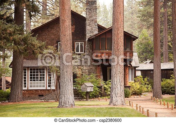 Classic Vintage Log Cabin - csp2380600
