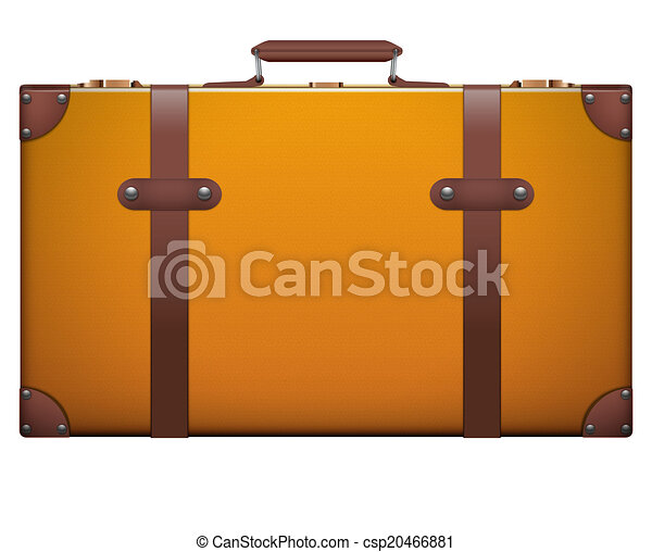 Classic vintage luggage suitcase for travel - csp20466881