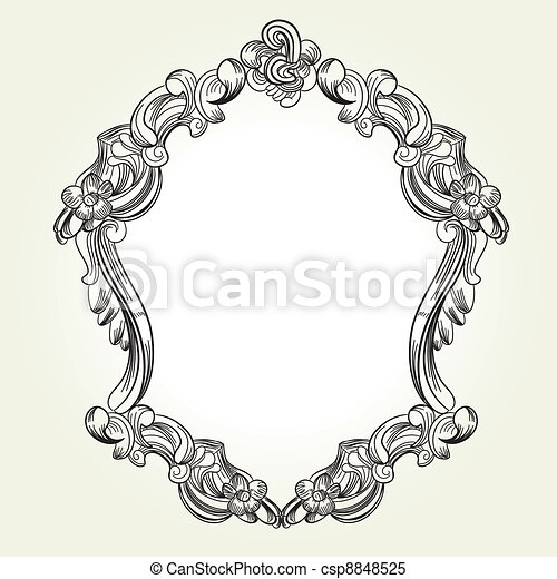 classic vintage victorian frame clipart vector search illustration rh canstockphoto com victorian ornament frame vector free victorian border vector