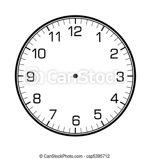 classic wall clock on the wall - csp5395712
