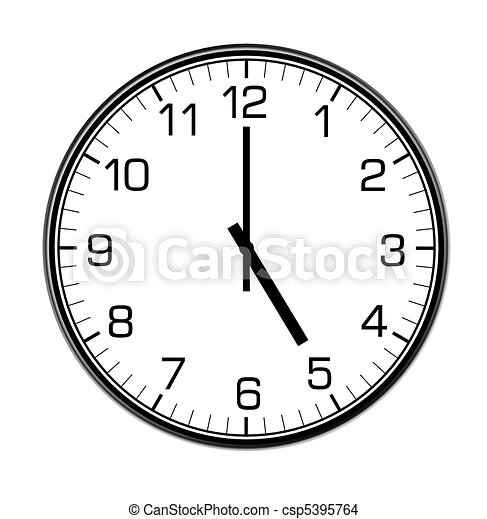 Classic wall clock on the wall. Classic wall clock on the ...