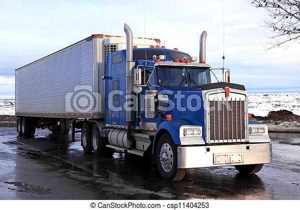 classical big american truck outdoors - csp11404253