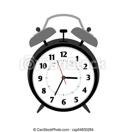 classical black alarm clock isolated on white vector vector rh canstockphoto com alarm clock vector free alarm clock vector free download