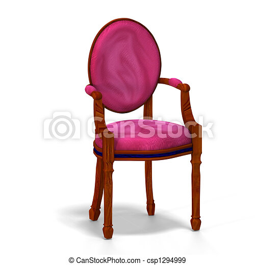 classical chair - half side view - csp1294999