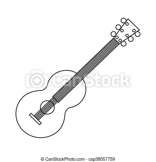 classical guitar icon outline style